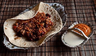 Burrito z mięsem